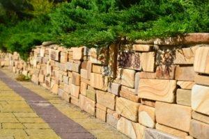 Подпорные стены, мощение плитки, создание подпорной стенки, подпорная стенка, ландшафтный дизайн