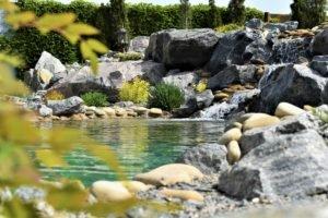горный водопад, ландшафтный дизайн Мелитополь, ландшафтный дизайн большой водоем, ландшафтный дизайн