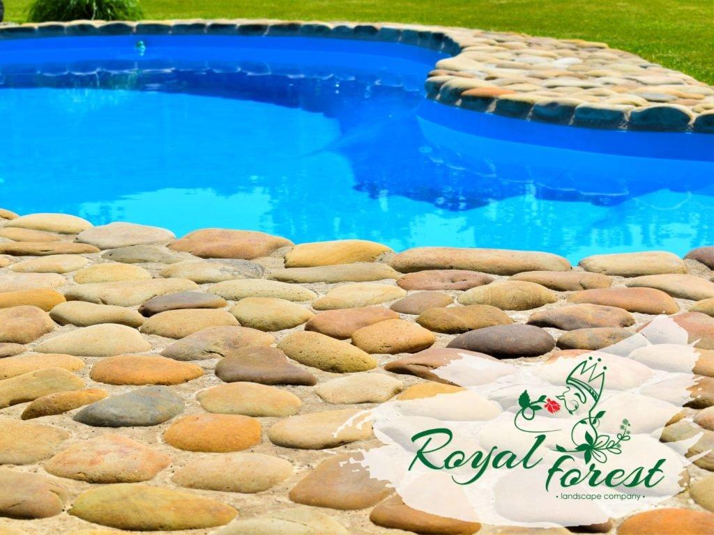 оформление бассейна, кладка природного камня, ландшафтный дизайн Мелитополь, ландшафтный дизайн