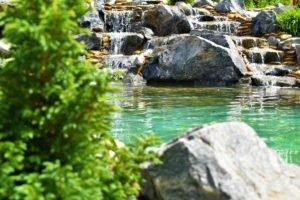 природный водопад каскад в саду, создание природных водопадов по всей Украине, водопады Украина, ландшафтный дизайн