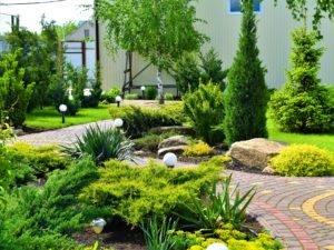 растановка светильнико, правила расположения светильников в саду, освещение сада, ландшафтный дизайн