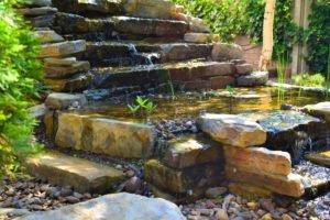 старый водопад, многоуровневый водопад каскад, красивый водопад, ландшафтный дизайн