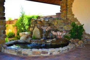 строительство фонтанов в Мелитополе, фонтан в Мелитополе, водопады и фонтаны в Мелитополе, ландшафтный дизайн