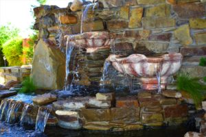 водопады под ключ, красивый фонтан, фонтан водопад Мелитополь, ландшафтный дизайн