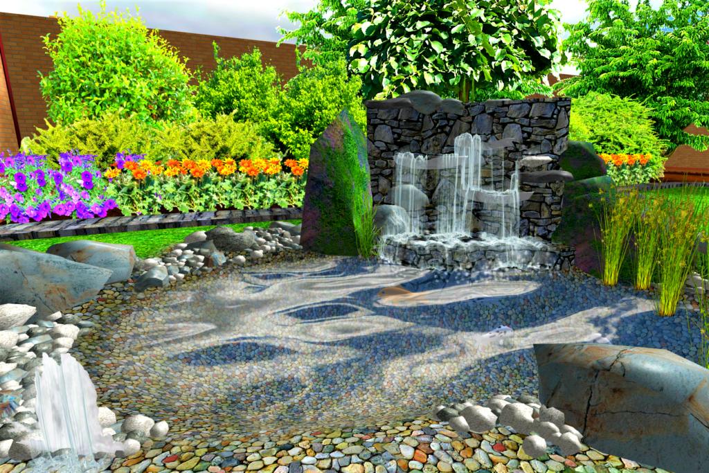создание водоемов, создание прудов, создание фонтанов, создание водопадов