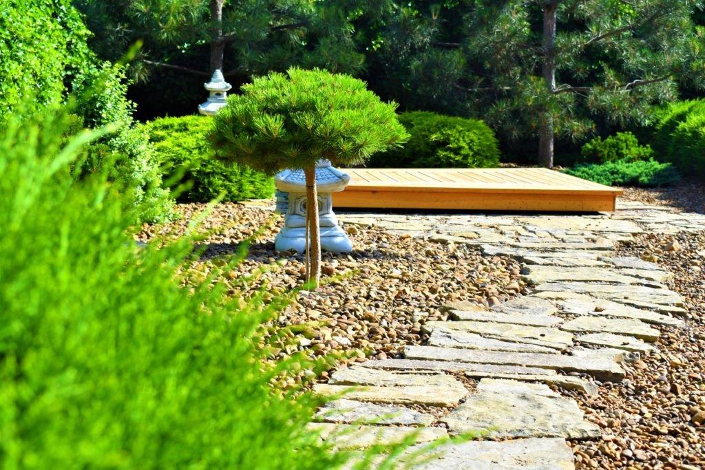 японский сад Запорожье, сад в японском стиле Запорожье, японский сад, Ландшафтный дизайн