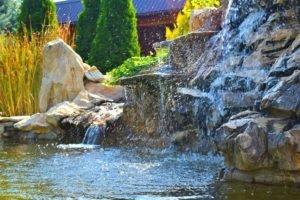 Строительство искусственного водопада Запорожье, благоустройство и озеленение искусственного водопада Запорожье, искусственный водопад Запорожье, создание искусственного водопада Запорожье