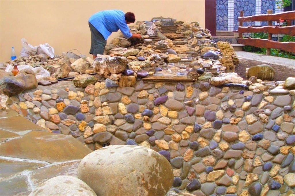 построить пруд, построить водоем, построить фонтан, построить водопад