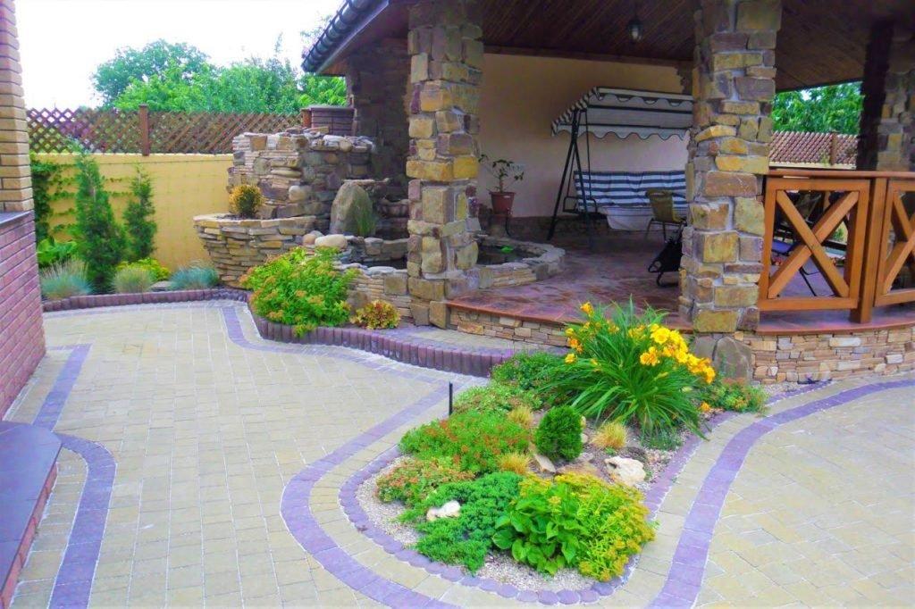 строительство беседок из камня, беседка из камня, беседка в ландшафтном дизайне, малые архитектурные формы