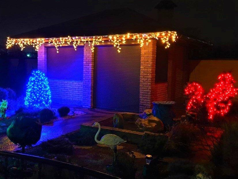 как украсить участок на новый год, как украсить двор на новый год, как украсить дачу на новый год, как украсить ландшафтный дизайн на новый год