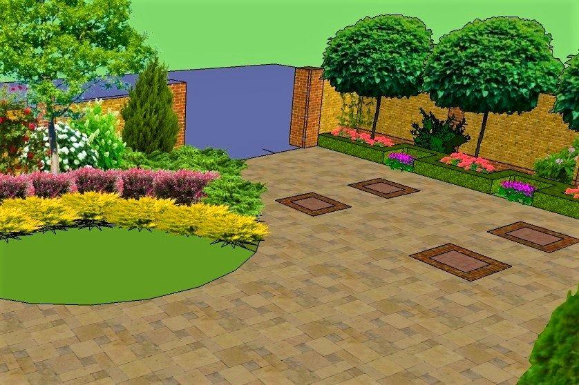 проект ландшафта в стиле модерн Днепр, стиль модерн в ландшафтном дизайне, дизайн ландшафта Днепр