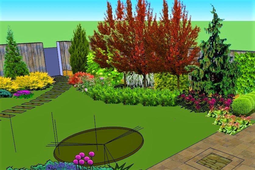 садовый дизайн Днепр, проект двора Днепр, проект сада Днепр, проект участка Днепр
