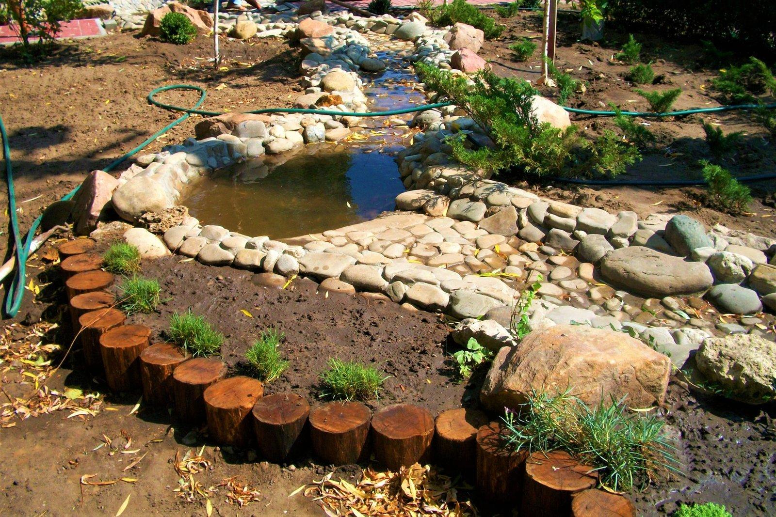 С чего начать создание ручья, как создать ручей, где создать ручей, из чего создать ручей, материалы для ручья