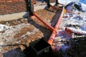 система отведения дождевых вод, система отведения дождевых вод от сдания, система отведения дождевых вод с участка, система отведения дождевых вод от зданий