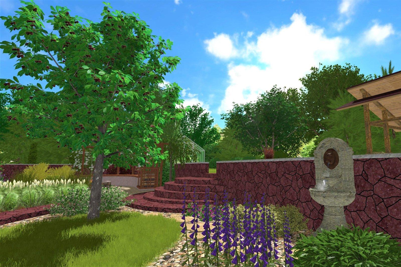 проект фонтанчика в ландшафтном дизайне, проект поильничка в ландшафтном дизайне, проект рукомойника в саду, проект поильника для птиц в саду