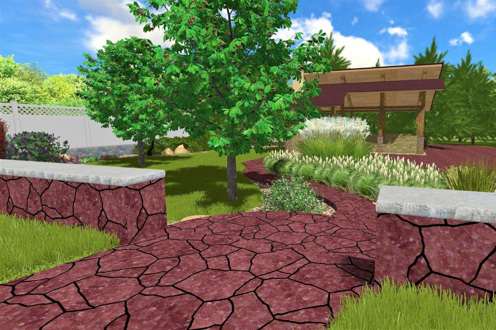проект мощения в саду, проект дорожек в саду, проект площадок, ландшафтный проект