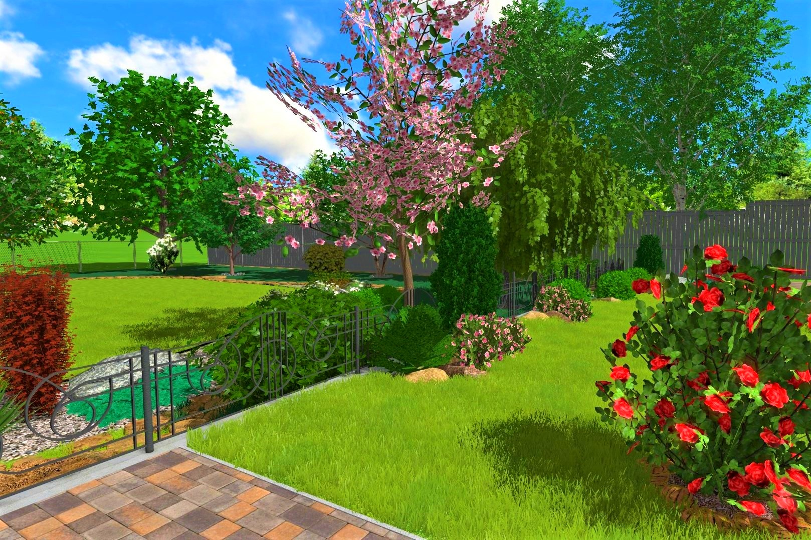 Озеленение участка многоквартирного дома в Киеве, озеленение многоэтажного дома в Киеве, озеленение в Киеве