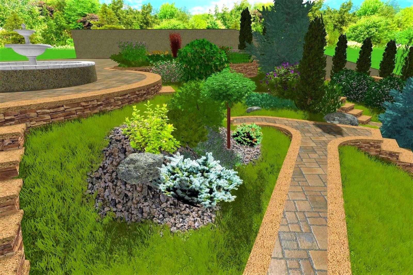 ландшафтный дизайн садового участка в Киеве, садовый ландшафтный дизайн участка в Киеве, проект сада на даче Киев