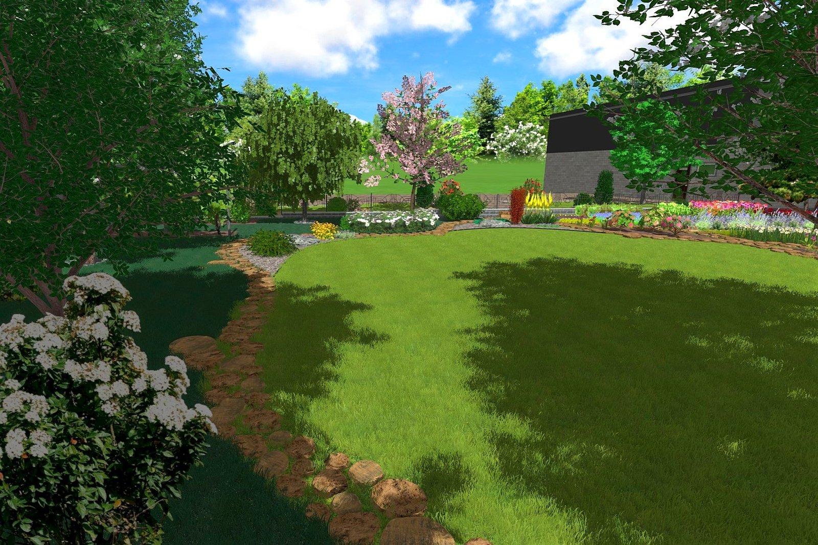 Проект сада в Киеве, садовый дизайн в Киеве, ландшафтный проект Киев
