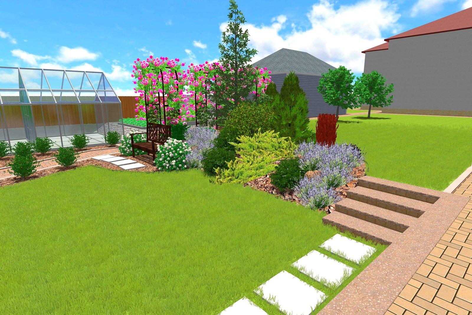 Трехмерное моделирования ландшафтного дизайна двора в Киеве, Моделирование ландшафтного дизайна двора в Киеве, 3д ландшафтного дизайна двора в Киеве