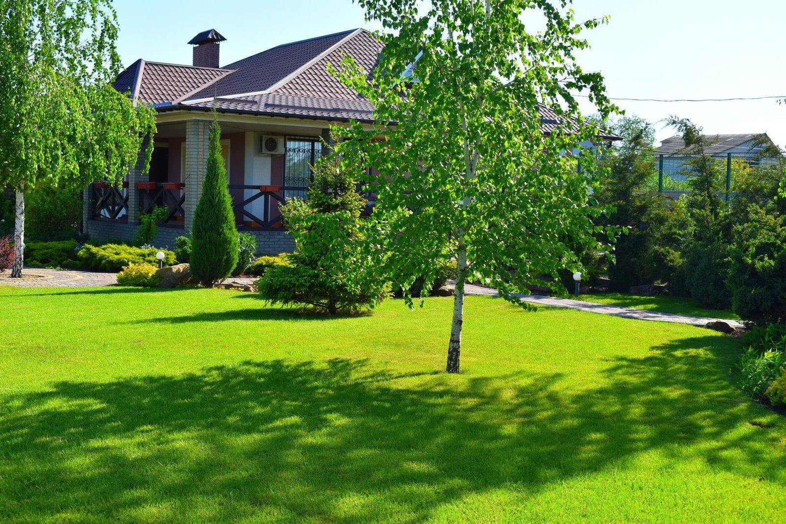 Идеальный приусадебный участок, грамотное благоустройство территории частного дома, озеленения территории