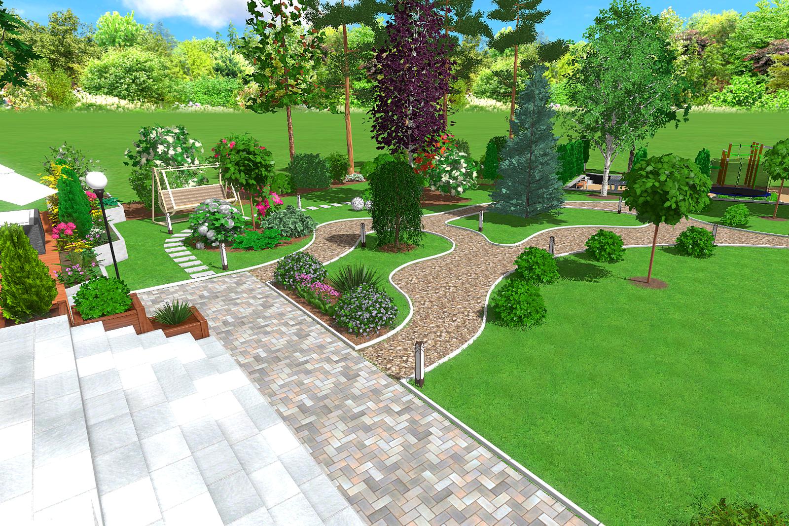 функциональные зоны в ландшафтном дизайне, организация системы полива участка