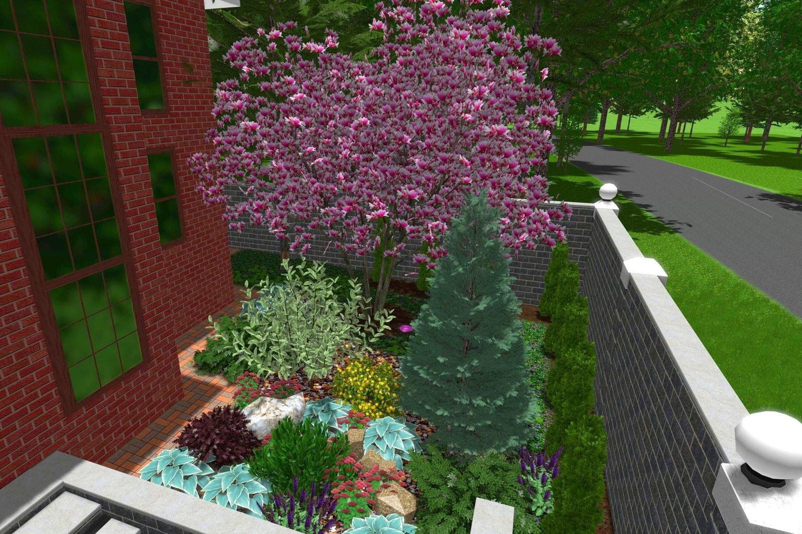 проектирования ландшафта, план высадки растений