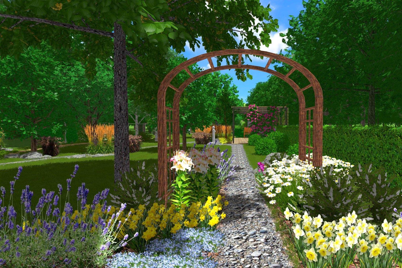 дополнить многолетними растениями, время озеленения территории