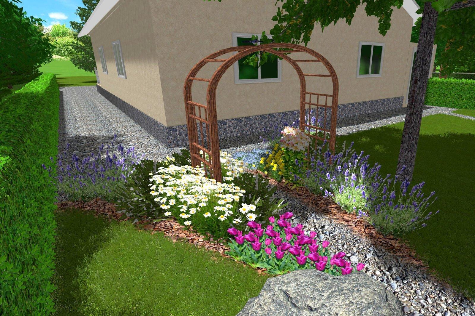 гармоничный проект ландшафта, клумбы, Грамотное озеленение