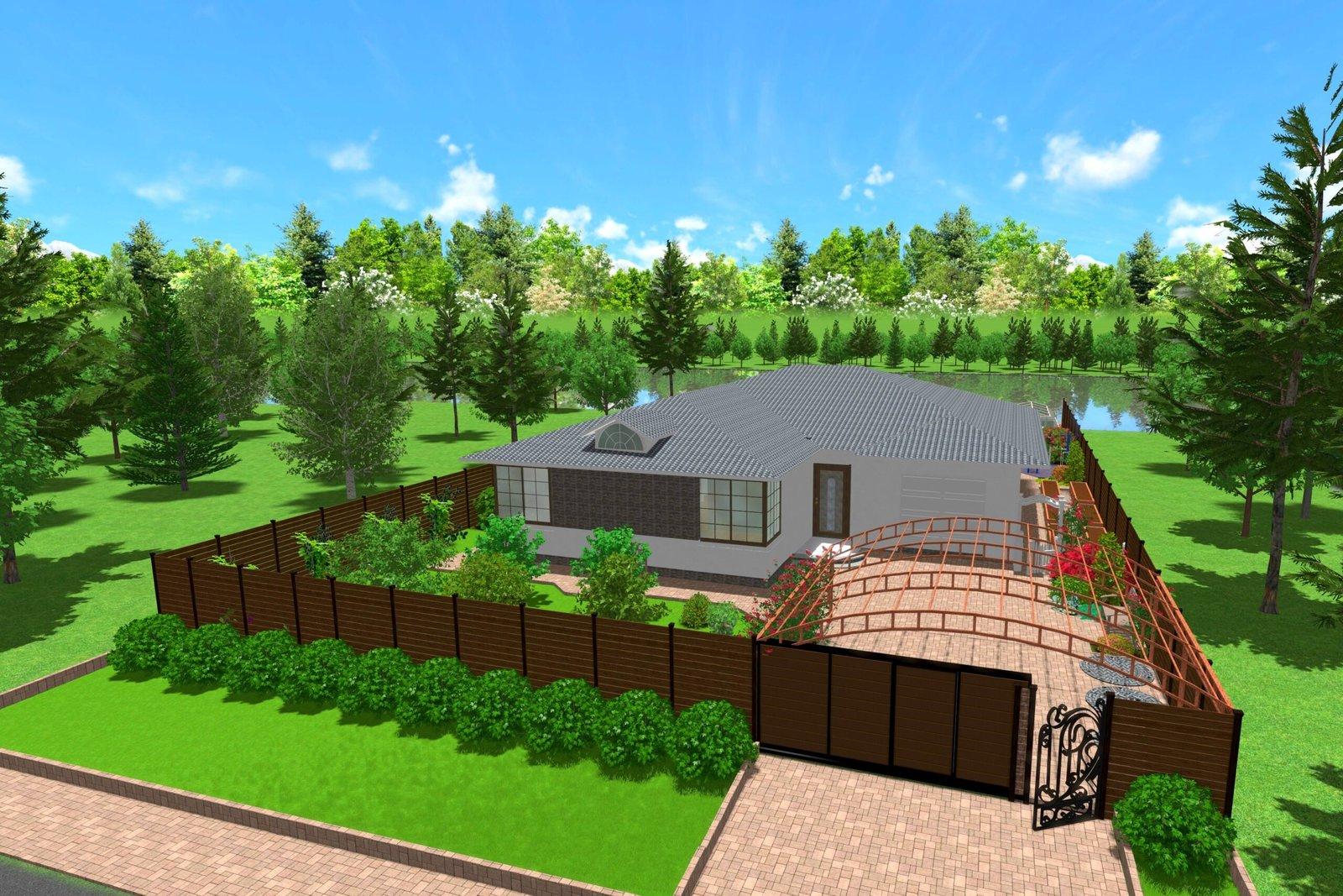 Дизайн придомовой территории, искусство создания комфортного ландшафтного дизайна, Озеленение участка,