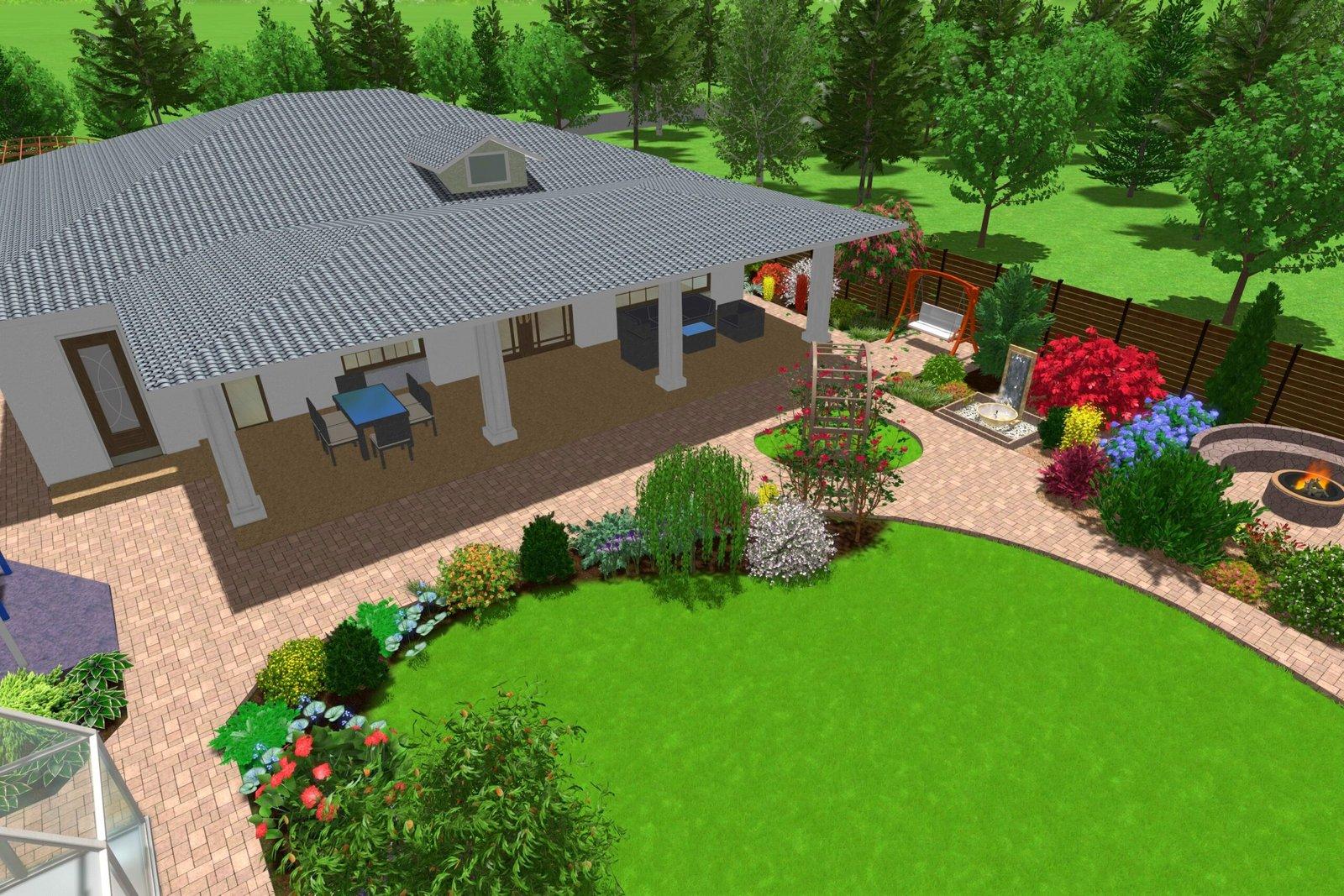 газон яркий, декоративные элементы в ландшафтном дизайне, оформление садовой территории,