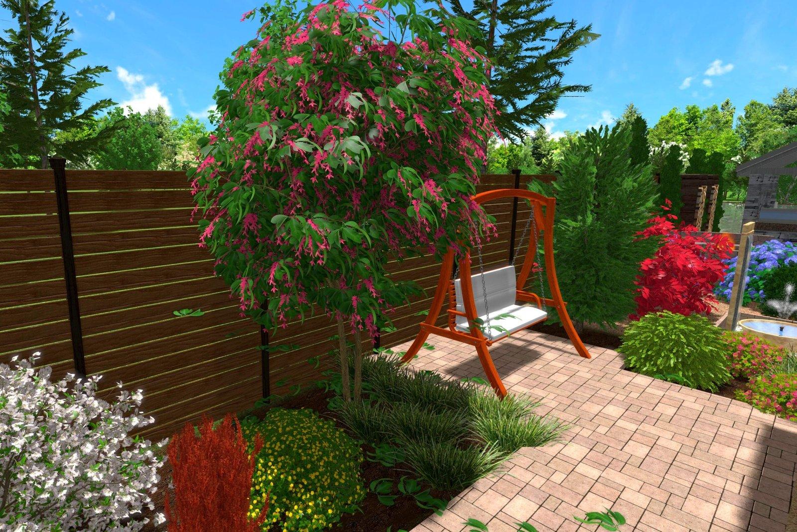 как сделать ландшафтный дизайн более ярким, многоцветные клумбы с растениями, Декоративные элементы на территории приусадебного у