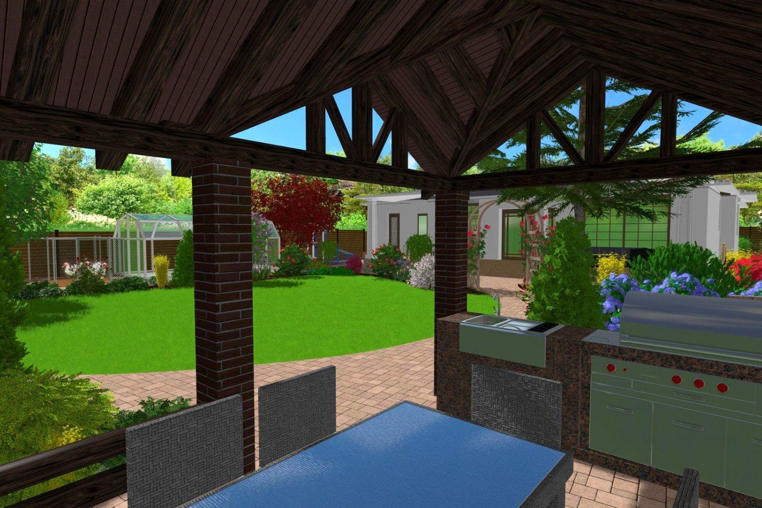 садовые дорожки, территория небольшого участка, сделать стандартный участок ярким и уютным
