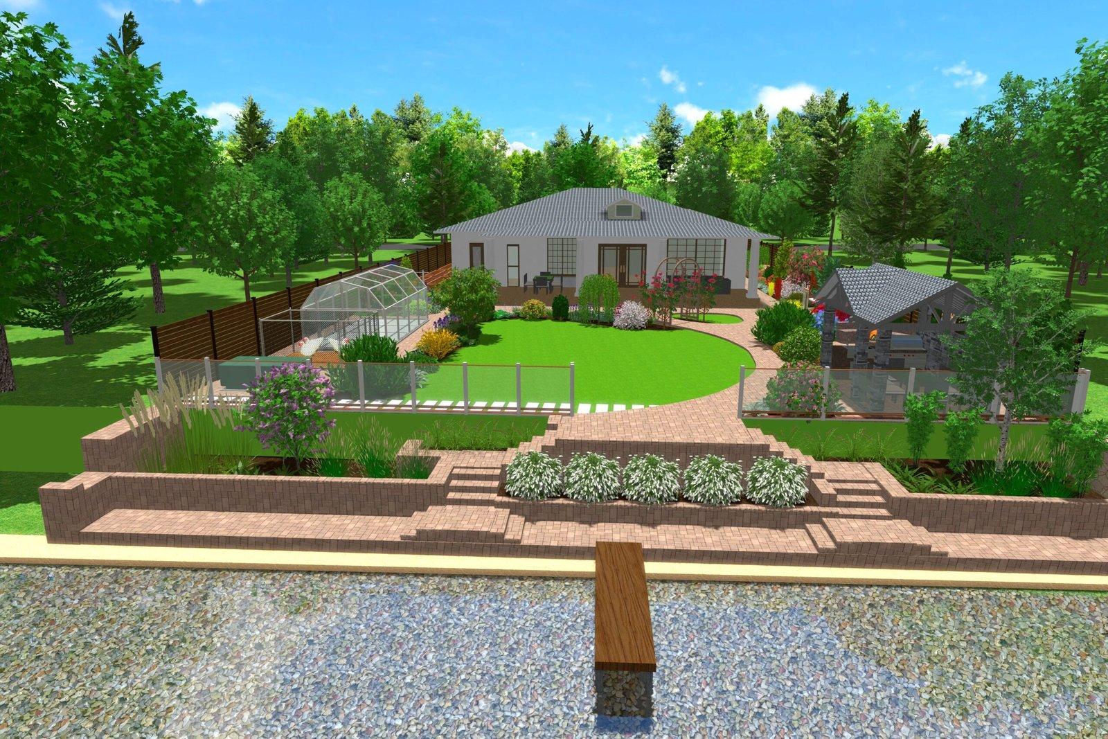 водные сооружения ландшафтный дизайн, высадка растений на границе участка, высадка живой изгороди,