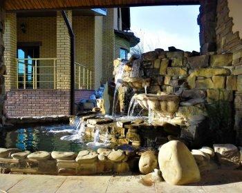 искусственные водопады, возданее неповторимых водопадов, водопад пруд, ландшафтный дизайн